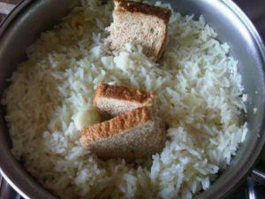 arroz queimado