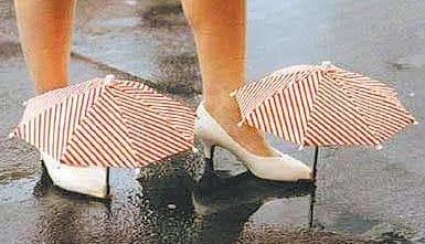 secar os sapatos molhados
