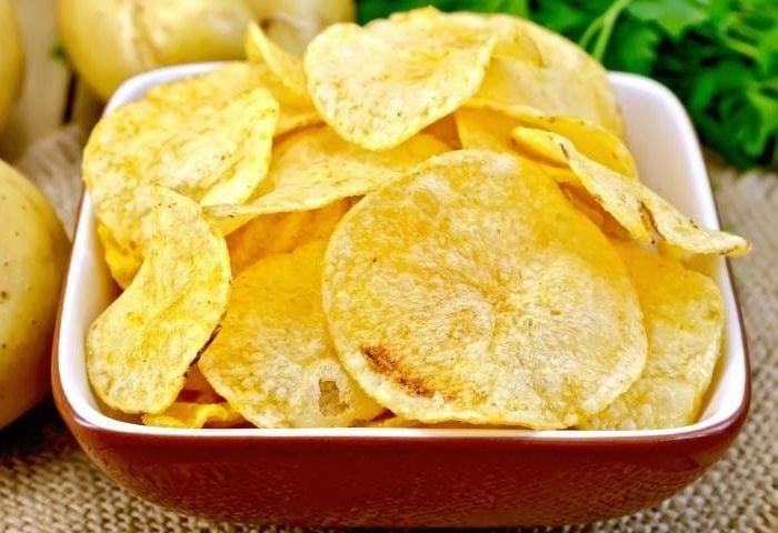 Batatas fritas no micro-ondas