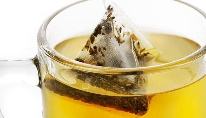 Saquetas de chá verde