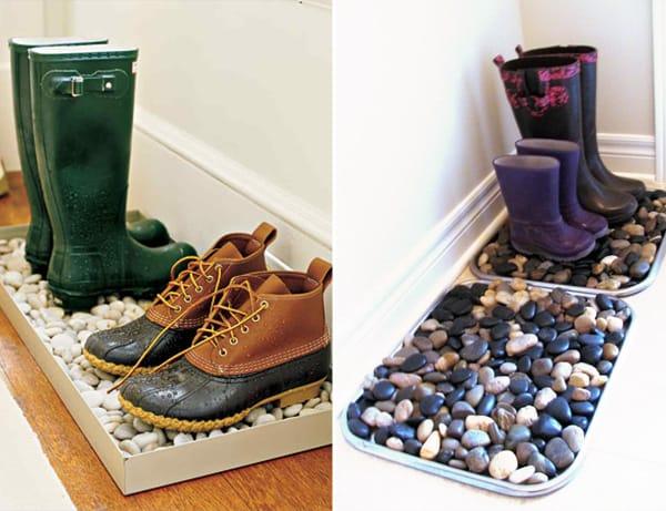 Tire o calçado antes de entrar em casa
