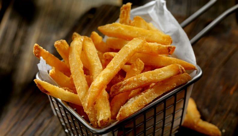 Batatas fritas estaladiças como conseguir 1