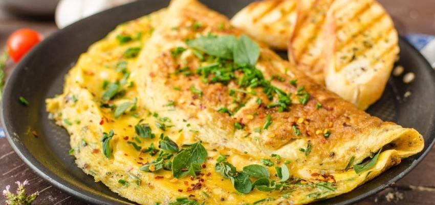 Omelete de forno com atum