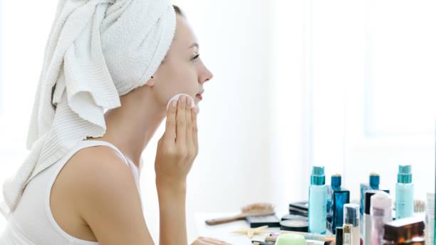 limpar o rosto